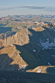Looking south towards the Needle Mountains from the summit of 14,048-foot Handies Peak, Handies Peak Wilderness Study Area, Colorado