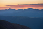 Sunrise from the summit of 14,034-foot Redcloud Peak, Redcloud Peak Wilderness Study Area, near Lake City, Colorado