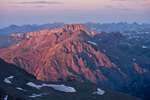Half Mountain at sunrise from the summit of 14,034-foot Redcloud Peak, Redcloud Peak Wilderness Study Area, near Lake City, Colorado