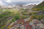 Vermilion Peak, Golden Horn and Pilot Knob, Ice Lakes Basin, near Silverton, Colorado