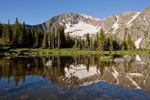 Savage Peak reflected in an unnamed pond, Missouri Lakes region, Holy Cross Wilderness, Colorado