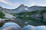 Mount of the Holy Cross reflected in Lake Patricia, Holy Cross Wilderness, Colorado