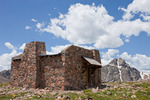 Cabin atop Notch Mountain and Mount of the Holy Cross, Holy Cross Wilderness, Colorado