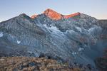 Blanca Peak and Ellingwood Peak at sunrise in late September, Sangre de Cristo Wilderness, Colorado