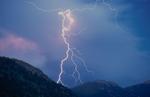 Lightning storm over Rocky Mountain National Park, Colorado