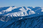 Looking south into the Sawatch Range and Collegiate Peaks Wilderness from the summit of 14,433-foot Mt. Elbert in January, San Isabel National Forest, Colorado