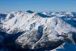14,421-foot Mt. Massive in January from the summit  of 14,433-foot Mt. Elbert, the highest mountain in Colorado, San Isabel National Forest, Colorado