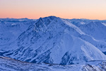 La Plata Peak at sunset from the summit of 14,433-foot Mt. Elbert, San Isabel National Forest, Colorado