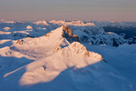 Wetterhorn Peak at sunrise in early March from the summit of 14,309-foot Uncompahgre Peak, Uncompahgre Wilderness, Colorado