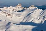 Precipice Peak and Dunsinane Mountain from the summit of 14,309-foot Uncompahgre Peak in March, Uncompahgre Wilderness, Colorado