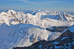 Looking north from the summit of Humboldt Peak in late April, Sangre de Cristo Wilderness, Colorado