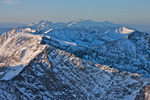 Looking south from the summit of Humboldt Peak in late April, Sangre de Cristo Wilderness, Colorado