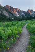Mt. Kennedy at sunset from Chicago Basin, Weminuche Wilderness, Colorado