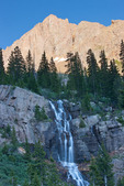 Jupiter Mountain and waterfall in Chicago Basin, Weminuche Wilderness, Colorado