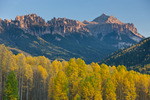 Peak 12,734 from Silver Jack Reservoir in early October, Uncompahgre National Forest, Colorado