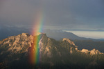 Rainbow over Cimarron Ridge and the Sneffels Range from Mt. Jackson, Uncompahgre National Forest, Colorado