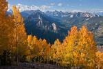 Uncompahgre Peak, Peak 12,734, Coxcomb Peak, Redcliff and Precipice Peak from Mt. Jackson in early October, Uncompahgre Wilderness, Colorado