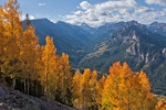Uncompahgre Peak and the valley of the East Fork of the Cimarron River in early October, Uncompahgre Wilderness, Colorado