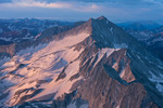 Snowmass Mountain from the summit of Capitol Peak at sunrise, Maroon Bells-Snowmass Wilderness, Colorado