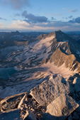 Snowmass Mountain at sunrise from the summit of Capitol Peak, Maroon Bells-Snowmass Wilderness, Colorado