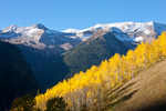 Treasury and Treasure mountains fromLead King Basin in late September, White River National Forest, Colorado