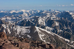 Looking northwest from the summit of Longs Peak, Rocky Mountain National Park, Colorado