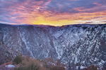 Sunrise at Tomichi Point in early December, Black Canyon of the Gunnison National Park, Colorado