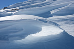 Sastrugi (wind-carved snow) along the east ridge of Mt. Yale, Collegiate Peaks Wilderness, Colorado