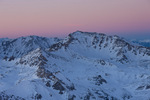 Mt. Harvard at sunset from the summit of 14,196-foot Mt. Yale, Collegiate Peaks Wilderness, Colorado