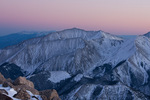 14,197-foot Mt. Princeton at sunset from the summit of Mt. Yale, Collegiate Peaks Wilderness, Colorado