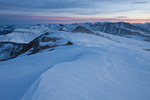 Looking north from the summit of 14,036-foot Mt. Sherman at sunrise, Mosquito Range, Colorado