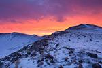 Wild sunrise over Hoosier Ridge, a proposed wilderness area, near Breckenridge, Colorado