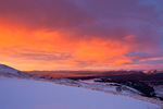Sunrise over South Park from Hoosier Ridge, a proposed wilderness area, near Breckenridge, Colorado