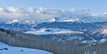 Panorama of Wilson Peak and the San Miguel Mountains from Last Dollar Road, San Juan Mountains, Colorado