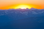 Dawn glow over the San Juan Mountains from the summit of 14,246-foot Mt. Wilson, San Miguel Mountains, Lizard Head Wilderness, Colorado
