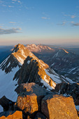 El Diente Peak at sunrise from the summit of 14,246-foot Mt. Wilson, San Miguel Mountains, Lizard Head Wilderness, Colorado