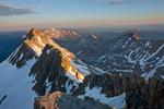 El Diente Peak at sunrise from the summit of 14,246-foot Mt. Wilson, San Miguel Mountains, Lizard Head Wilderness, Colorado