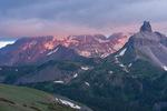 Mt. Wilson and Lizard Head at sunrise from Black Face, Lizard Head Wilderness, San Juan Mountains, Colorado