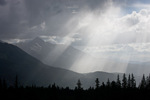 God beams (crepuscular rays) over Wilson Peak, San Juan Mountains, Colorado
