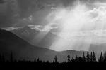 God beams (crepuscular rays) over Wilson Peak, San Juan Mountains, Colorado