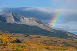 Rainbow over East Beckwith from knoll along the Dark Canyon Trail, Kebler Pass area, Gunnison National Forest, Colorado