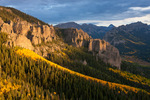 Uncompahgre Peak from overlook along Alpine Trail, Uncompahgre Wilderness, Colorado