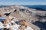 Epaulet Mountain and Pikes Peak from the summit of 14,060-foot Mt. Bierstadt, Mount Evans Wilderness, Colorado