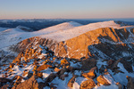 The Sawtooth at sunset from the summit of 14,060-foot Mt. Bierstadt, Mount Evans Wilderness, Colorado