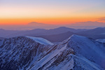 Sunrise from the summit of 14,270-foot Grays Peak, near Georgetown, Colorado