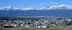 Mt. Elbert (left), Mt. Massive and Leadville, Colorado, in early September.