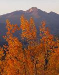 Example photo: no polarizer, excessively bright sky near horizon. Longs Peak from Trail Ridge in autumn, Rocky Mountain National Park, Colorado