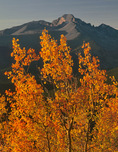 Example photo: using a polarizer to slightly darken an excessively bright sky near the horizon. Longs Peak from Trail Ridge in autumn, Rocky Mountain National Park, Colorado