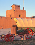 Bent's Old Fort National Historic Site at sunrise, near La Junta, Colorado