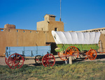 Wagons and Bent's Old Fort National Historic Site, near La Junta, Colorado